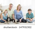 portrait of happy family of... | Shutterstock . vector #147931502