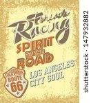 california retro route 66... | Shutterstock .eps vector #147932882