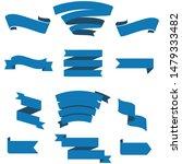 dark blue ribbon set inisolated ... | Shutterstock .eps vector #1479333482