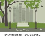central park. new york. usa.... | Shutterstock .eps vector #147933452