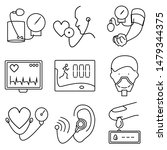 medical devices set of icon | Shutterstock .eps vector #1479344375