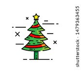christmas tree line icon. xmas... | Shutterstock .eps vector #1479363455