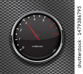 tachometer. black car gauge on... | Shutterstock . vector #1479386795
