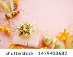 gift box with golden bow on... | Shutterstock . vector #1479403682