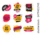 collection of colorful sale... | Shutterstock .eps vector #1479421745
