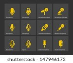 microphone icons. vector...