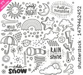 set of weather related objects... | Shutterstock .eps vector #1479462452