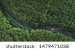 Aerial View Of The Road Through ...