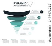 pyramid infographics. funnel... | Shutterstock .eps vector #1479471212