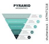pyramid infographics. funnel... | Shutterstock .eps vector #1479471218