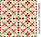 ikat geometric folklore... | Shutterstock .eps vector #1479478802