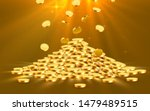 golden shiny coins. big bunch... | Shutterstock .eps vector #1479489515