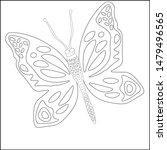 butterfly silhouette drawn in...   Shutterstock .eps vector #1479496565