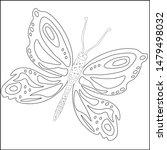 butterfly silhouette drawn in...   Shutterstock .eps vector #1479498032