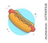 hotdog vector icon illustration.... | Shutterstock .eps vector #1479509318