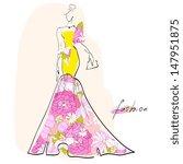 dress sketch | Shutterstock . vector #147951875