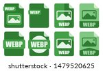 webp file icon set vector logo...