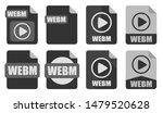 webm file icon set vector logo...