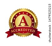 accredited gold badges and... | Shutterstock .eps vector #1479525215