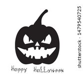 pumpkin silhouette and the...   Shutterstock .eps vector #1479540725