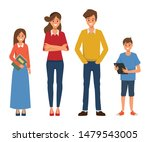 family people with father... | Shutterstock .eps vector #1479543005