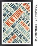 New York Boroughs Words Cloud...