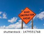Closeup Of Road Construction...