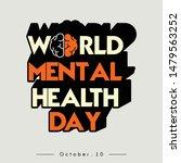 world mental health day... | Shutterstock .eps vector #1479563252