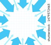 blue arrows pointing to center. ... | Shutterstock .eps vector #1479572465
