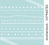 set of hand drawn lace paper... | Shutterstock .eps vector #147960782