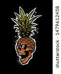 pineapple skull in a sunglasses ...   Shutterstock .eps vector #1479612458