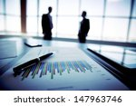 close up of a financial report... | Shutterstock . vector #147963746