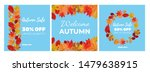 collection of autumn sale and... | Shutterstock .eps vector #1479638915