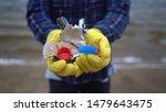 volunteer help garbage...   Shutterstock . vector #1479643475