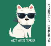 Stock photo vector icon of dog breeds west white terrier illustration west white terrier puppy is sitting 1479688205