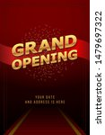 grand opening invitation...   Shutterstock .eps vector #1479697322