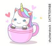 cute character cartoon unicorn... | Shutterstock .eps vector #1479705488