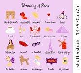 Dreaming Of Paris Symbols Set....