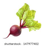 Beetroot With Leaves Isolated...