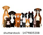 group of white paw dog | Shutterstock .eps vector #1479805208