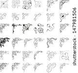 corner elements | Shutterstock .eps vector #147981506
