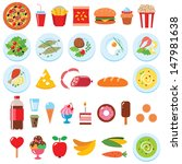 vector set of food isolated on... | Shutterstock .eps vector #147981638