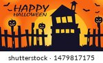 Halloween Vector Banner And...