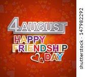 happy friendship day text... | Shutterstock .eps vector #147982292
