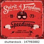 vintage motorbike race   hand... | Shutterstock .eps vector #147983882