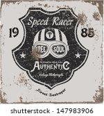 vintage motorbike race   hand... | Shutterstock .eps vector #147983906