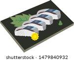 shime sanma oshizushi  ... | Shutterstock .eps vector #1479840932