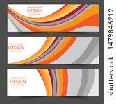 abstract header orange shape...   Shutterstock .eps vector #1479846212