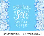 christmas sale paper snowflakes ... | Shutterstock .eps vector #1479853562