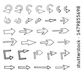 abstract arrows in hand drawn... | Shutterstock .eps vector #1479855698